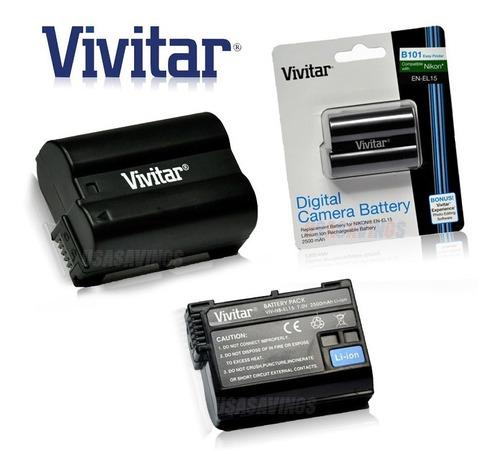 batería vivitar en-el15 nikon d7000 d7100 d810 d750 d610
