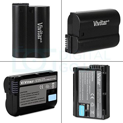 batería vivitar en-el15 para nikon d850, d810, d800, d750,