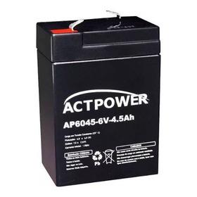 Bateria Vrla 6v 4,5ah Selada Moto Elétrica Brinquedo Toys