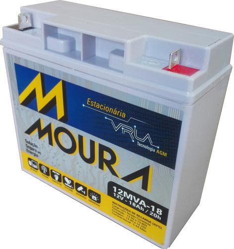 batería vrla agm 12 v. 18 ah, moura ciclo profundo