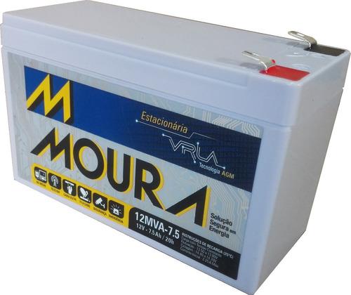 batería vrla agm 12 v. 7.5 ah, moura ciclo profundo