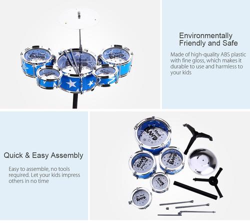 batería wanyi de lujo, instrumento musical para niños,