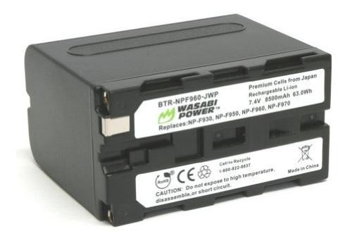 batería wasabi para sony np-f975, np-f970, np-f960 y otros