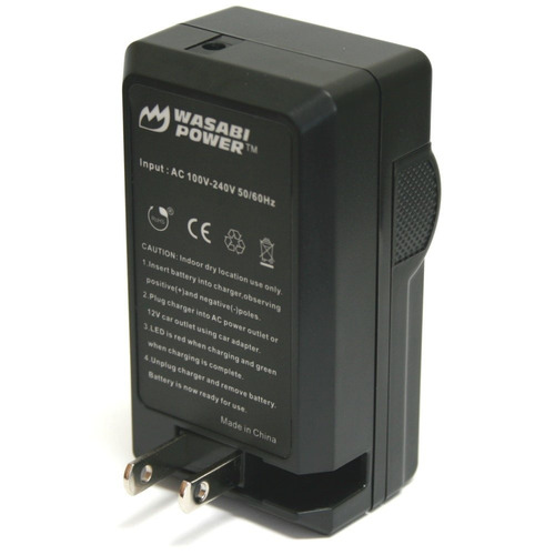 batería wasabi power (paquete de 2) y cargador para canon lp