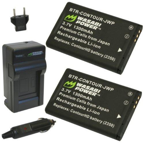 batería wasabi power (paquete de 2) y cargador para contour