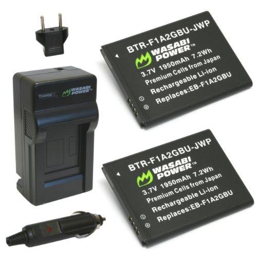batería wasabi power (paquete de 2) y cargador para samsung