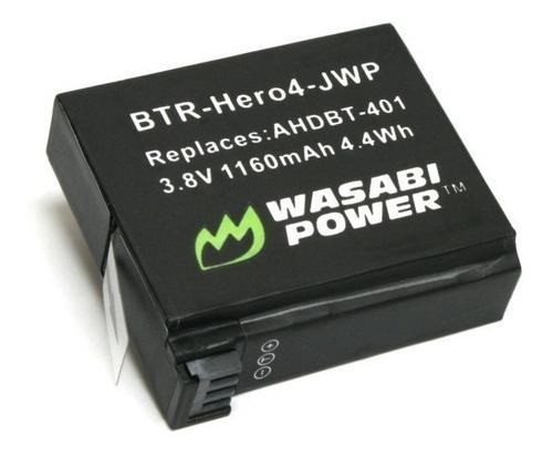 batería wasabi power para gopro hero 4 1160mah - tienda aut.