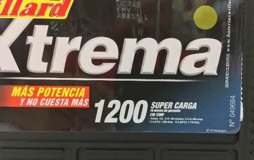 bateria willard extrema 31h-1200 garantia 12 meses