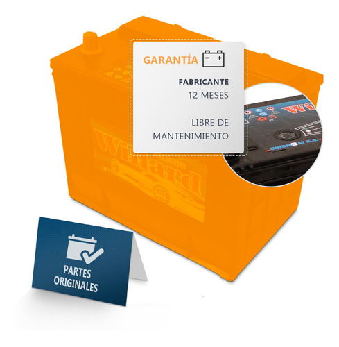 bateria willard ub710 12x70 colocacion gratis