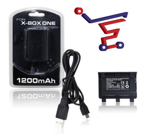 bateria xbox one 1200mah + usb control palanca xbox one