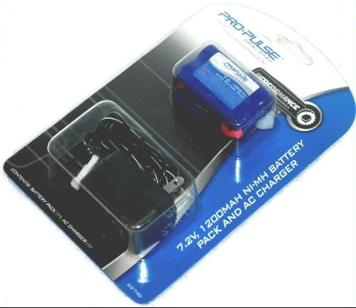 bateria y cargador carros r/c 7.2, 1200mah ni-mh pro-pulse
