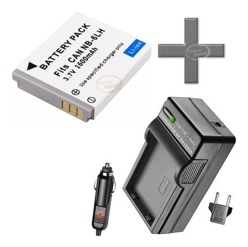 batería y cargador nb-6l cámara canon powershot ixus 90 ixy