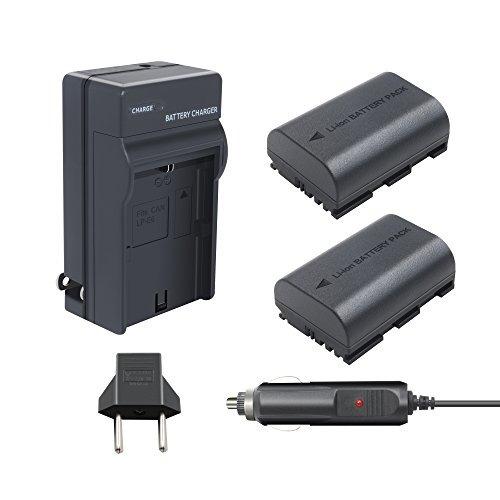 batería y cargador para canon - turpow / (x2) 2600mah