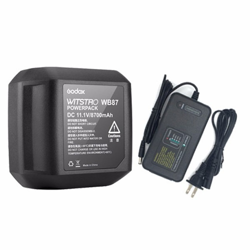 bateria y cargador para flash witstro ad600b godox