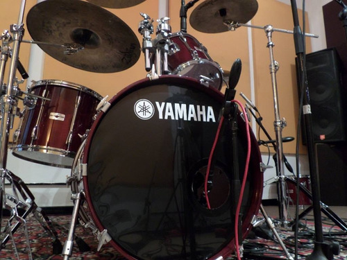 bateria yamaha recording custom cherry japan de los 90 unica