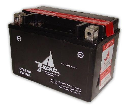 bateria yatch ytx9-bs para xt600 ou cb500 ou shadow 600