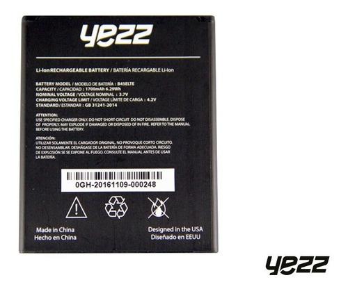 batería yezz 4.5e lte (#am45el133) original (16)