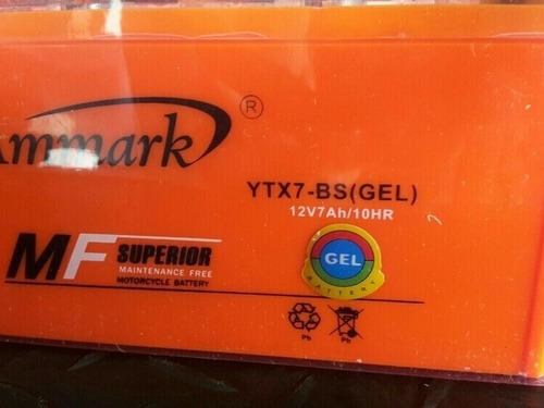 bateria ytx7-bs gel scooters matrix, bera, otros.