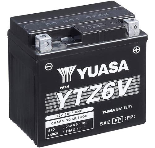 bateria yuasa ytz6v alto rendimiento / libre mantenimiento