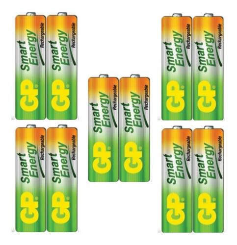 baterías  aa recargables  1000 mah gp garantizadas 5 pares