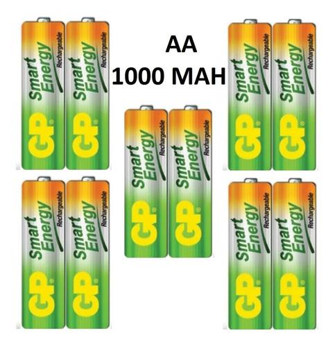 baterias aa recargables 1000 mah marca gp garantizadas