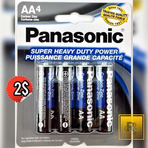 baterías aa y aaa panasonic blister de 4