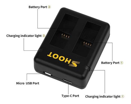 baterías cargador para
