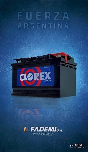 baterías clorex 75f 12x75