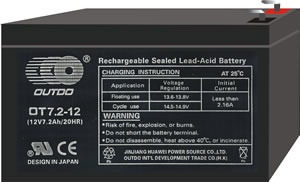 baterías de 12voltios 7amperios