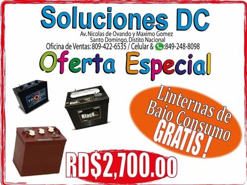 baterias de inversores barato y bueno - inf.: 809-422-6535