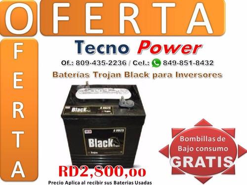 baterias de inversores - trojan negras - a.m.e.r.i.c.a.n.a.s