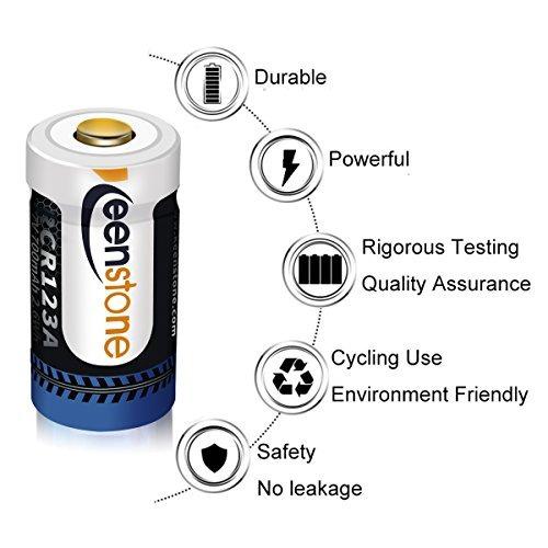 baterías de la cámara recargable keenstone rcr123a, baterías
