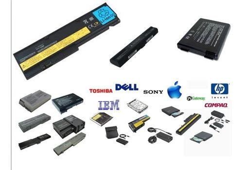 baterias de laptop dell  hp toshiba acer  lenovo  sony