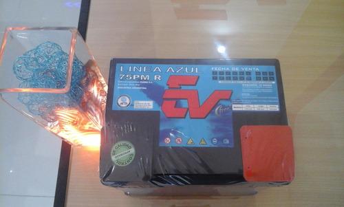 baterías ev 12v - 75 (ev75pm) libre mantenimiento