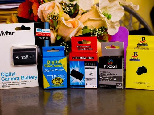 baterias para camaras profesionales canon y nikon relfex slr