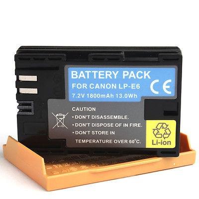 baterías para canon lp-e6 lpe6 eos 70 7 d 5 60 d 50 d mark
