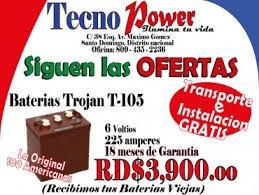 baterias para inversores * trojan t-105 * ( e s p e c i a l)