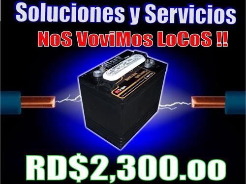 baterias para/de inversores (( llevatela desde rd$2,300  ))
