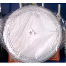 Parche Adw 14p Blanco Corrugado Para Redoblante Y Timbal