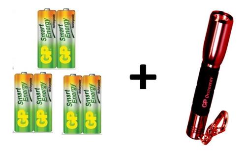 baterias pilas aa recargables 1000 mah  marca gp