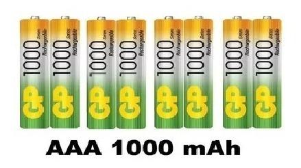 baterías pilas aaa recargables 1000 mah  4 pares garantizada