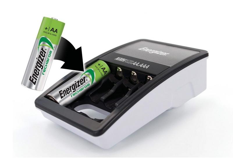 Cargador energizer 4 baterias aa recargables pilas maa - Cargador pilas recargables ...