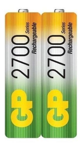 baterías pilas recargables  aa de 2700 mah  marca gp