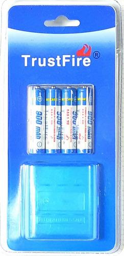 baterías pilas recargables aaa trustfire 1.2v 900mah