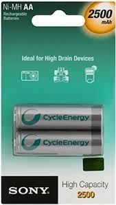 baterias pilas recargables sony de alta capacidad paq x 2
