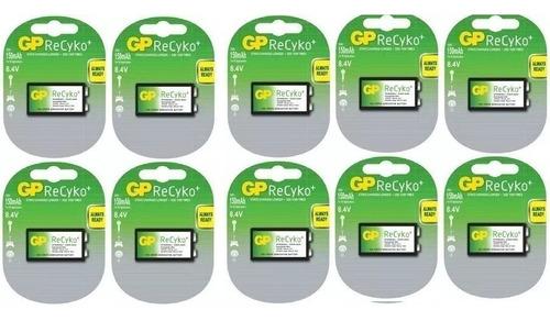 baterias recargables 9v gp recyko nimh 150mah diez unidades