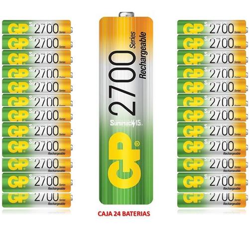 baterias recargables aa gp nimh 2700mah caja 24 baterias