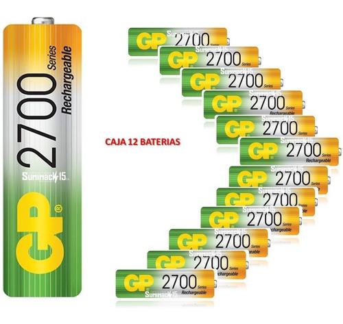 baterias recargables aa gp nimh 2700mah pack de 12 baterias