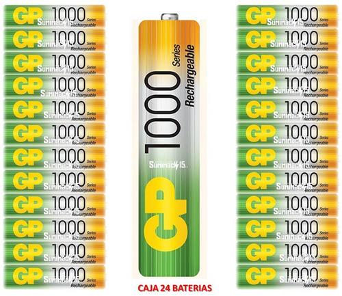 baterias recargables aaa gp nimh 1000mah caja de 24 baterias