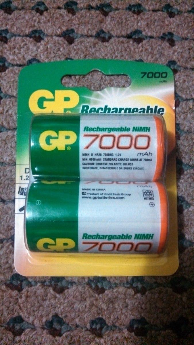 Baterias recargables tipo d de 7000 mah gp nimh - Tipos de pilas recargables ...